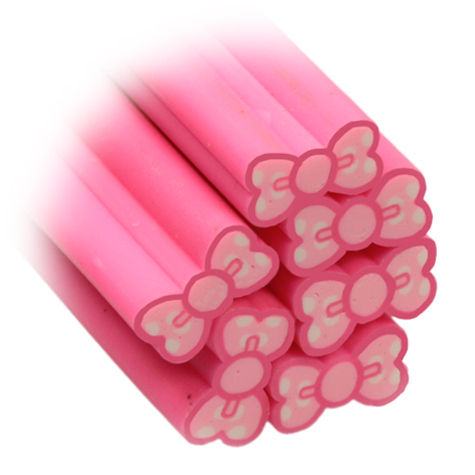 Fimo-Stick Schleife pink