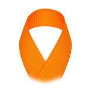 Ripsband Uni - 10 mm - orange