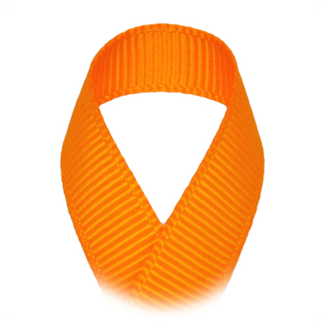 Ripsband Uni - 13 mm - orange